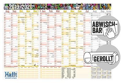 Calendario de pared para el curso 2019/2020, tamaño: 89 cm x 63 cm ...