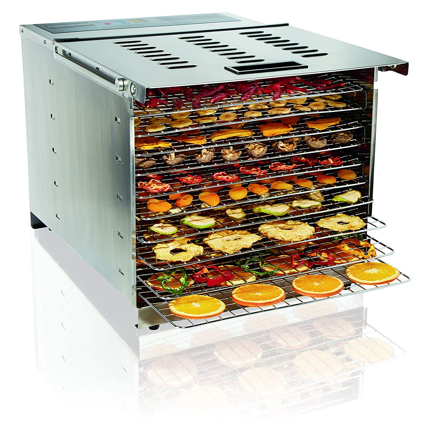 Proctor Silex Commercial 78450 Food Dehydrator, 10 Trays, 1200 Watts, Digital Timer and Controls, NSF Approved