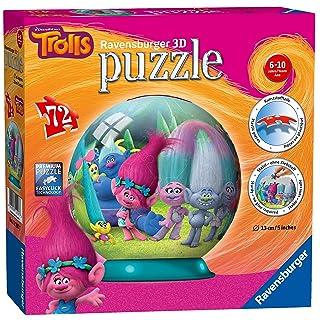 Trolls, 72 Piece 3D Jigsaw Puzzle (Ravensburger) 12197
