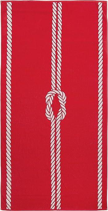 ZOLLNER Toalla de Playa Grande, 100x200 cm, algodón, roja, en Otros Colores: Amazon.es: Hogar