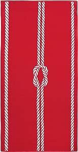 ZOLLNER Toalla de Playa Grande, 100x200 cm, algodón, roja, en ...