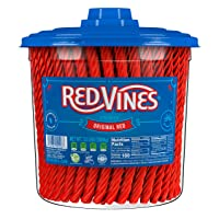 Red Vines Licorice, Original Red Flavor Soft & Chewy Candy Twists, 3.5 lbs, 56 Ounce