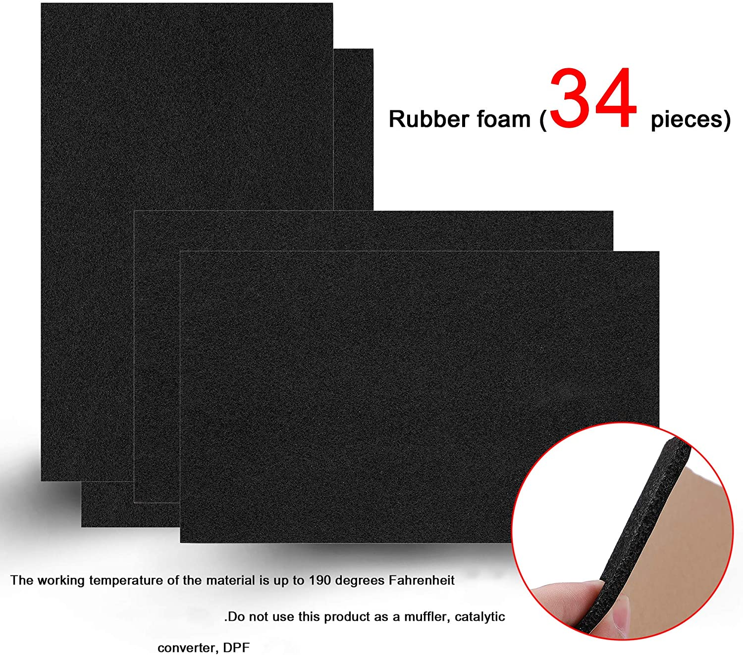 Shinehome 150 Mil 36 Sqft Sound Deadener Deadening Dampening Audio Noise Insulation Heat Insulation Mat Material Self Adhesive Rubber Waterproof Soundproofing Foam Panel Automotive Amazon Com