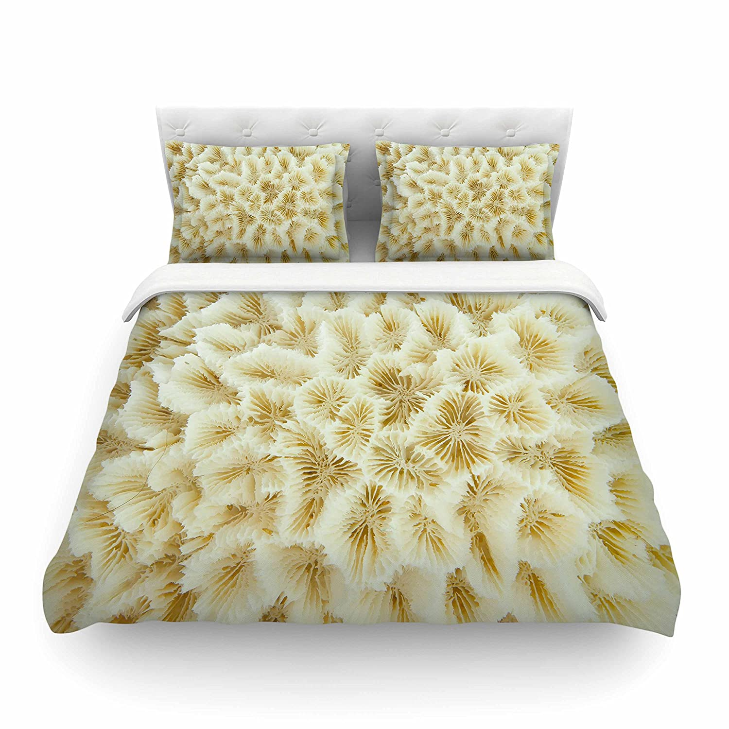 Kess InHouse Susan Sanders Ivory Ocean Beach Coral Beige White Photography King Featherweight Duvet Cover 104 x 88