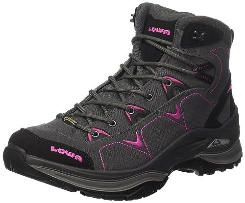 c2b90b9704a Lowa Women's Ferrox GTX Mid Ws Hiking Boots, Grey (Anthrazit/Beere ...