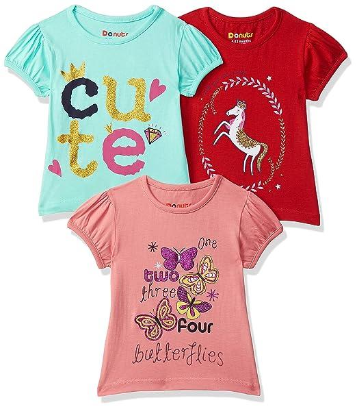 Baby-Girl's Regular fit T-Shirt (Pack of 3)
