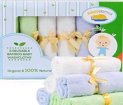 Pañitos de Baño de Bambú 100% Naturales y Orgánicos | Suaves y Delicados, Reutilizables