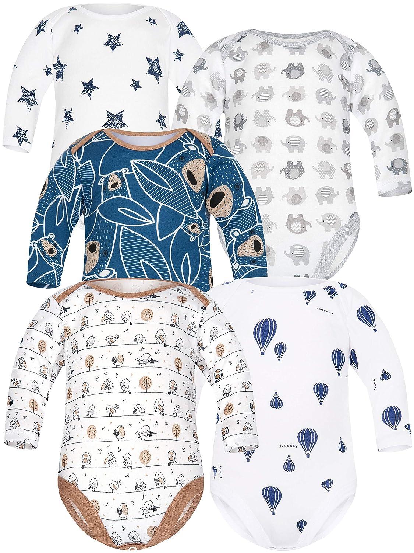 Simple Joys by Carters Baby-Jungen 5-Pack Long-Sleeve Bodysuit
