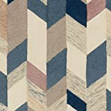 Rivet Modern Geometric Wool Area Rug, 4 x 6