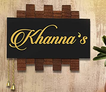 Buy Nidhi Creation Latest Customization Wooden Name Plate For Home I Decorative Plates I Door Nameplate Online At Low Prices In India Amazon In