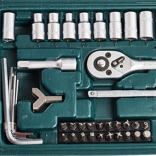 Mannesmann M29166 - Maletín con juego de llaves de vaso y puntas de destornillador (130 piezas)