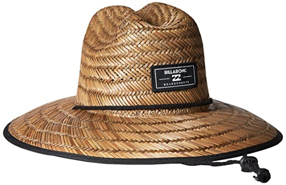Billabong Mens Spectator Straw Lifeguard Hat Brown One Size