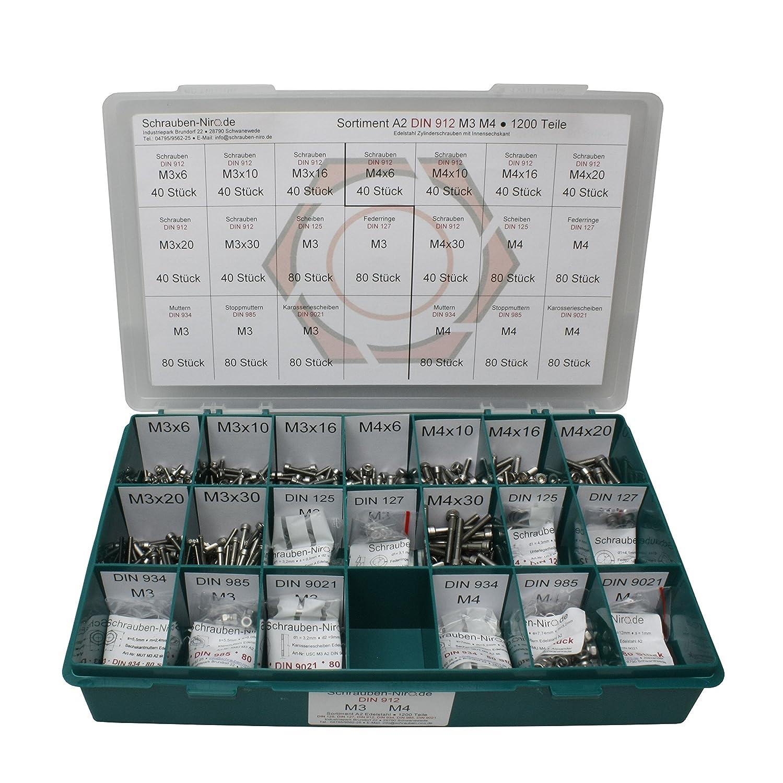 10 Stück Linsenkopfschrauben ISO 7380 A4 M3,5X20 Edelstahl V4A Innensechskant