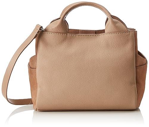465eea928c6 Clarks Talara Wish, Women's Satchel, Beige (Nude Leather), 13x19x32 cm (