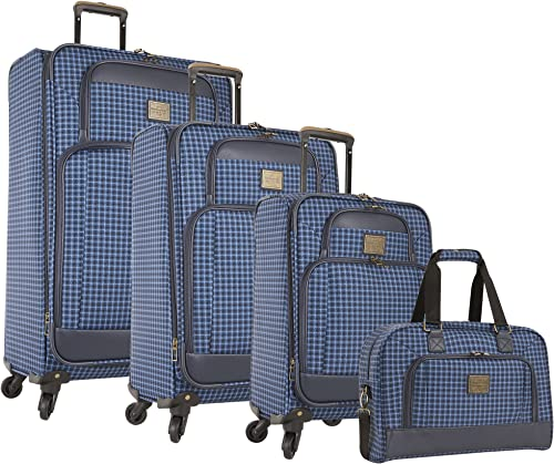Weatherproof 4 Piece Softside Spinner Luggage Set, Blue