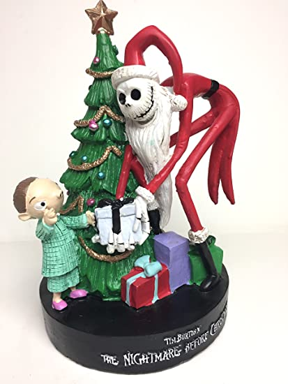 the nightmare before christmas santa jack figurine scene with christmas tree