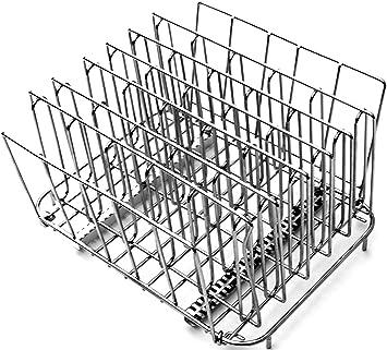 LIPAVI Sous Vide Rack L15 - Rejilla profesional para cocinar al vacío | Accesorios para cocedor de acero inoxidable 316L | plegable y ajustable 27,4 x ...