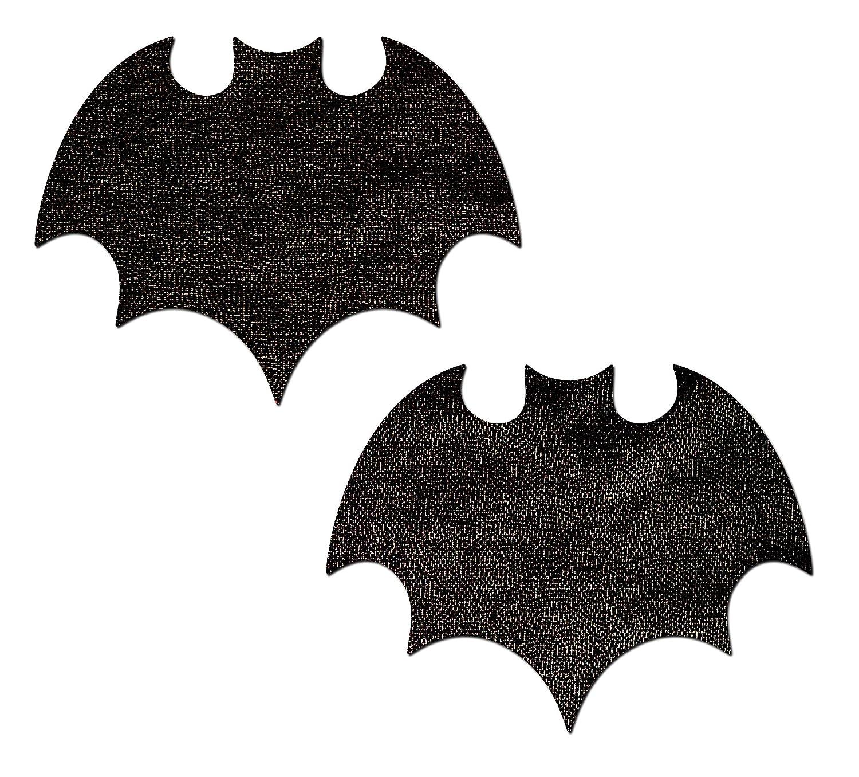 Vamp: Liquid Black Bat Nipple Pasties by Pastease® o/s VAM-LQ-BK