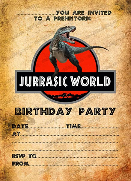 Design Buddies 15 X Boys Jurassic World Dinosaurs Birthday Party