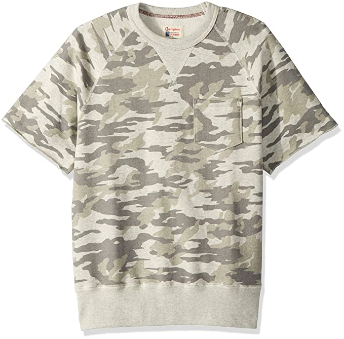 Todd Snyder + Champion Men's Camo Short Sleeve Sweatshirt free shipping