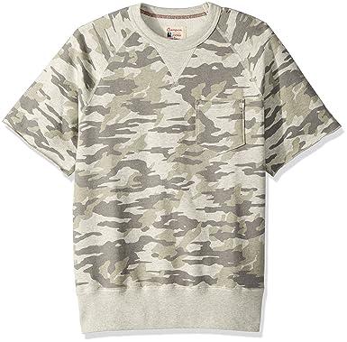 1134dd23 Todd Snyder + Champion Mens Camo Short Sleeve Sweatshirt Sweatshirt - White  -: Amazon.co.uk: Clothing