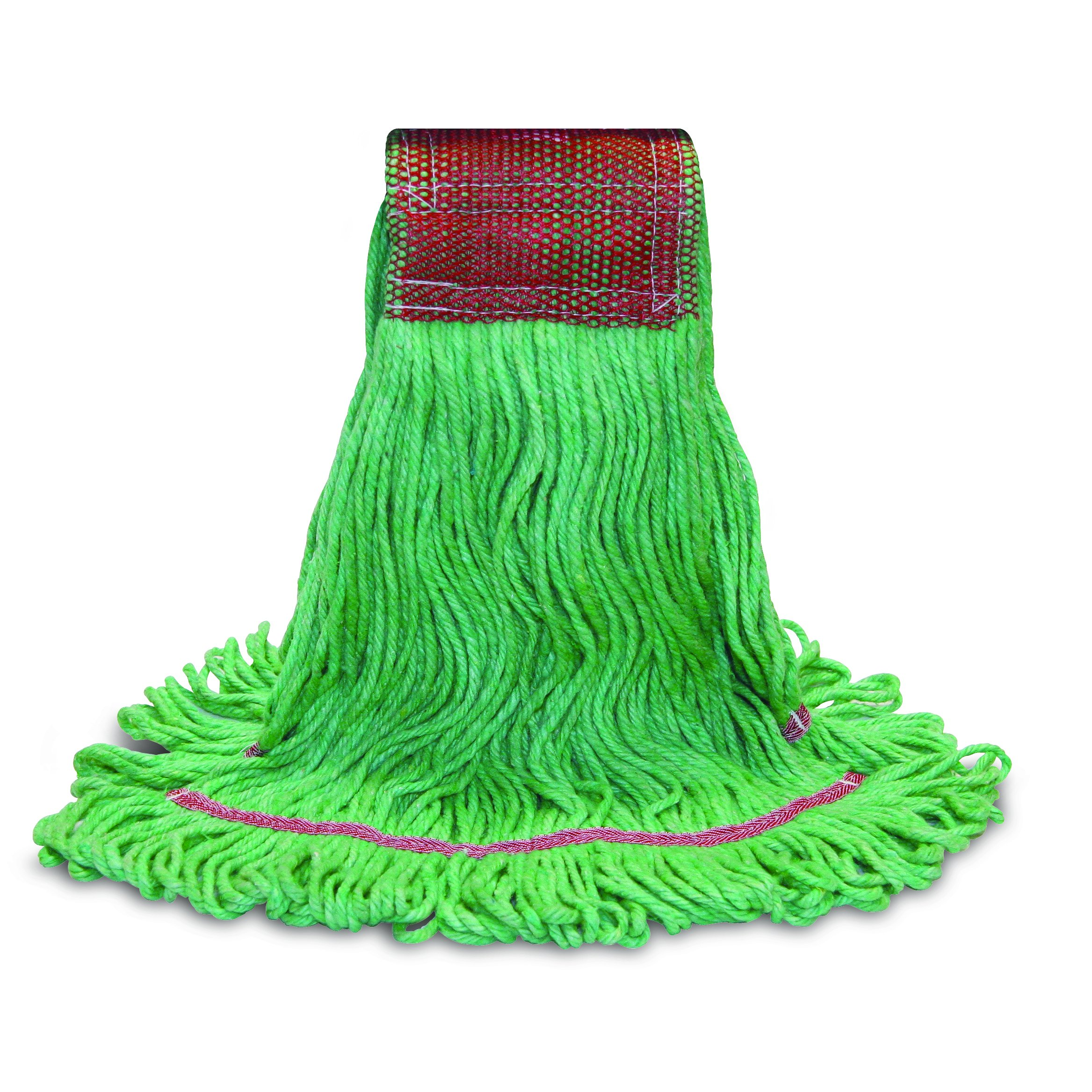 O'Cedar Commercial 97494 MaxiClean Shrinkless Loop-End Mop, X-Large, Green (Pack of 12) by O-Cedar Commercial