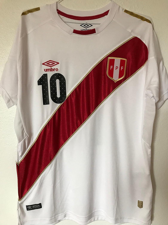 c66ede04a 2018 Peru Home National Team Farfan  10 mens soccer jersey (Medium ...