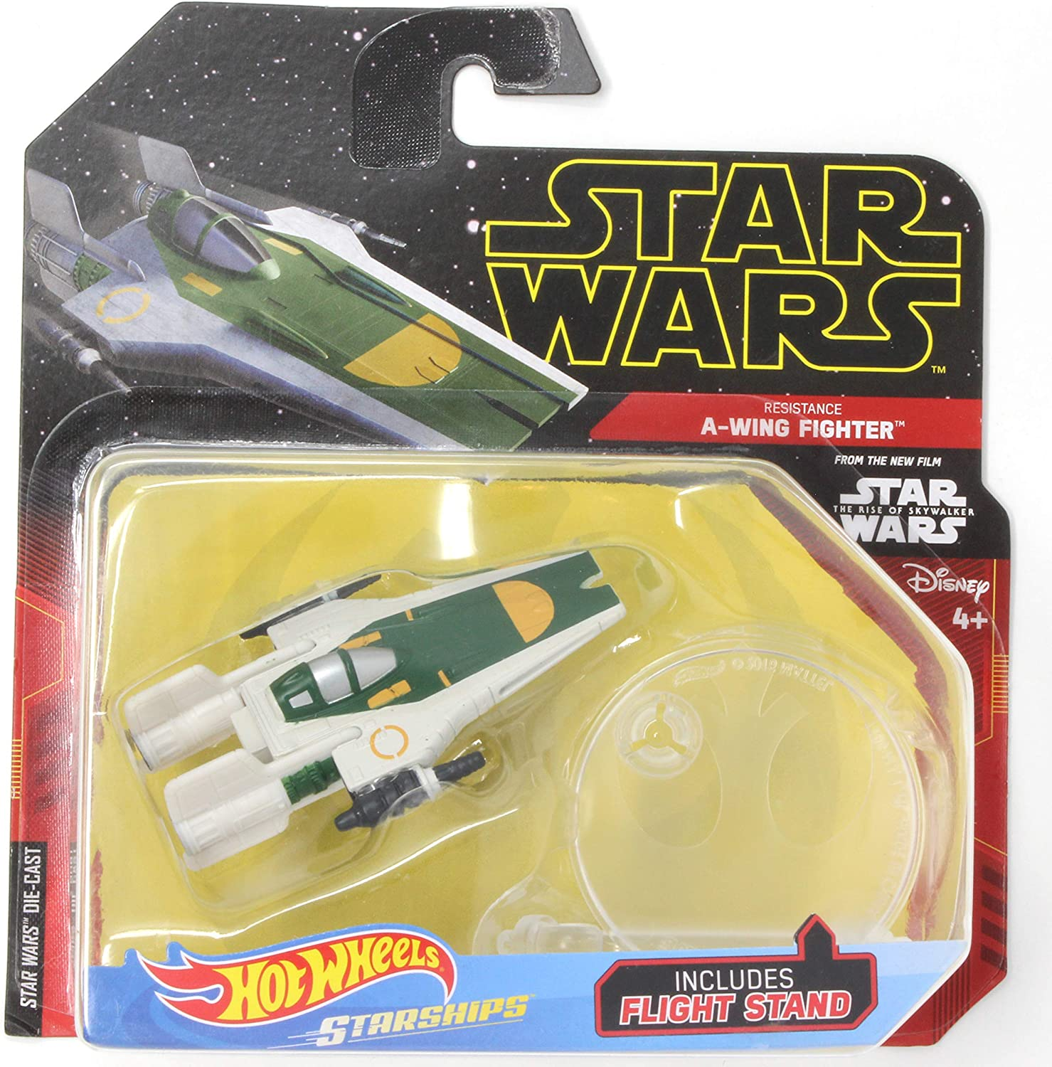 Star Wars Rebels Hot Wheels A Wing Fighter With Flight Stand