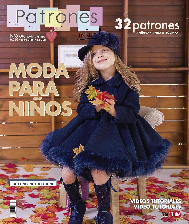 a014344a4 Revista Patrones Infantiles Nº 8 - Patrones De Costura Infantil - Moda  Otoño Invierno