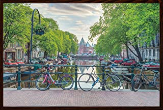 product image for Amsterdam By Assaf Frank Poster Print (36x24) (Architect Brown Wood Frame (Walnut))