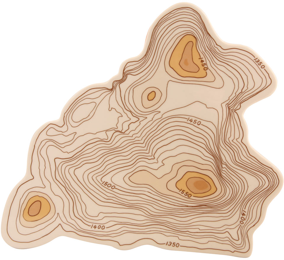 Topography Cheese Tray - Serveware