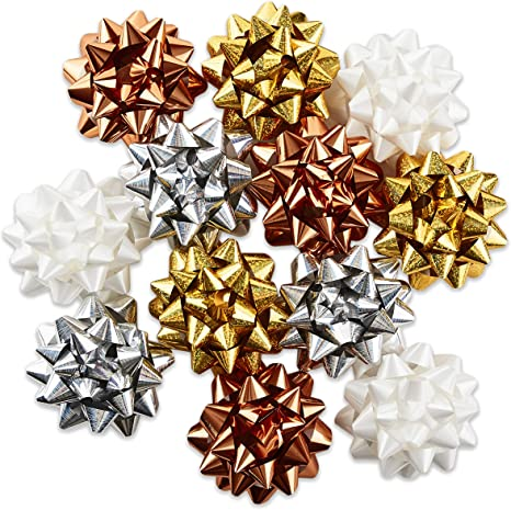 Christmas Winter Wonderland 12 pack Bows /& Ribbon Accessory **Various Colours**