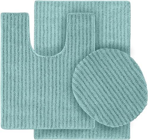 Garland Rug 3-Piece Sheridan Nylon Washable Bathroom Rug Set
