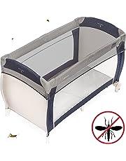 Zamboo - Moustiquaire universelle pour Lit Parapluie | Filet Anti-Moustique pour Lit Bébé, Berceau - 120 x 60 / 90x40 cm - Résistant et Lavable en Machine - Gris