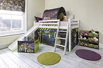TMNT Tent for Midsleeper Cabin Bed  Teenage Mutant Ninja Turtles Tent & TMNT Tent for Midsleeper Cabin Bed  Teenage Mutant Ninja Turtles ...