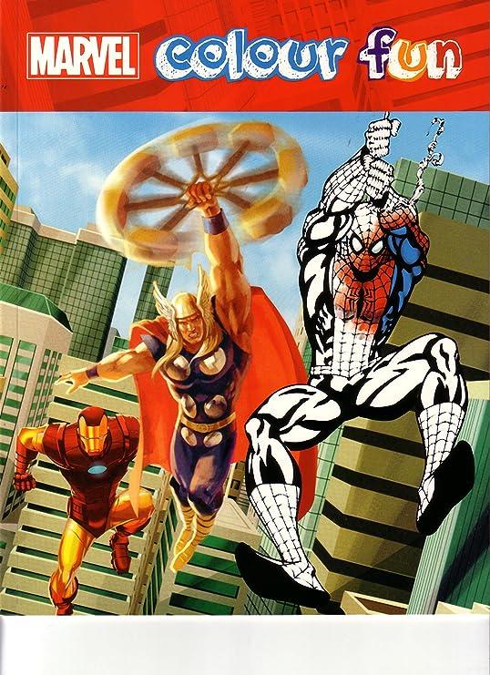 Marvel Colouring Book Spiderman,Batman, Hulk, Captain ...