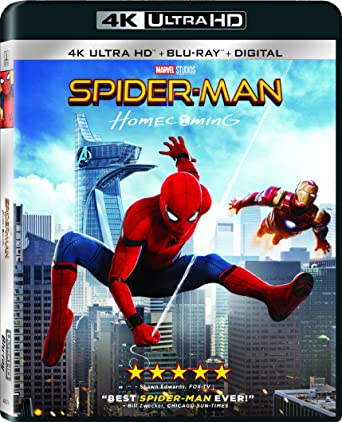 Amazon com: Spider-Man: Homecoming [4K Ultra HD] [Blu-ray