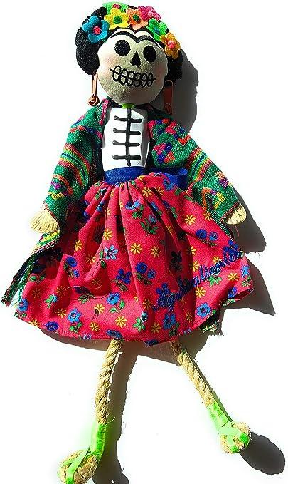Frida Kahlo – Mexicana hecha a mano – Catrina muñeca: Amazon.es: Hogar