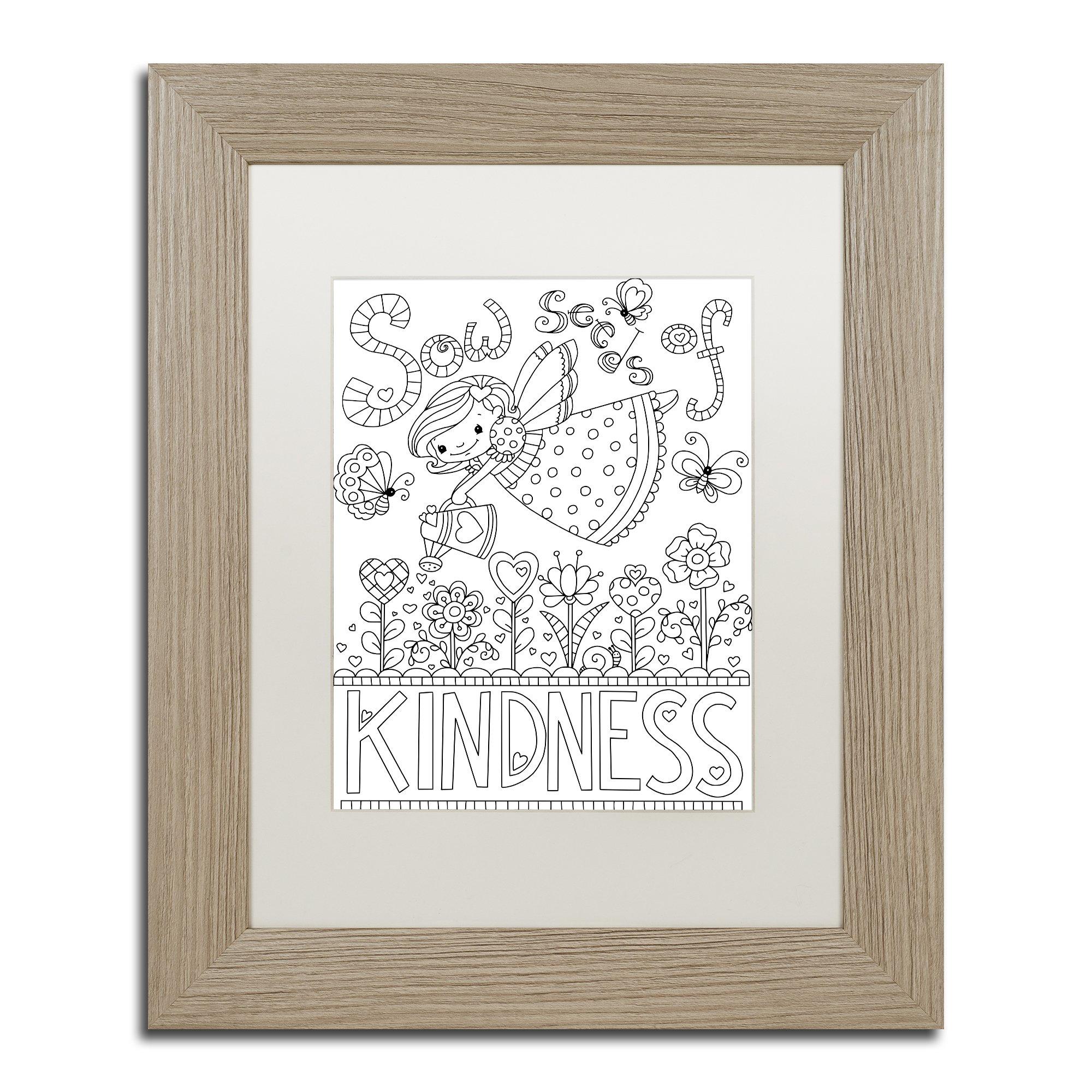 Sow Seeds by Jennifer Nilsson, White Matte, Birch Frame 11x14-Inch by Trademark Fine Art