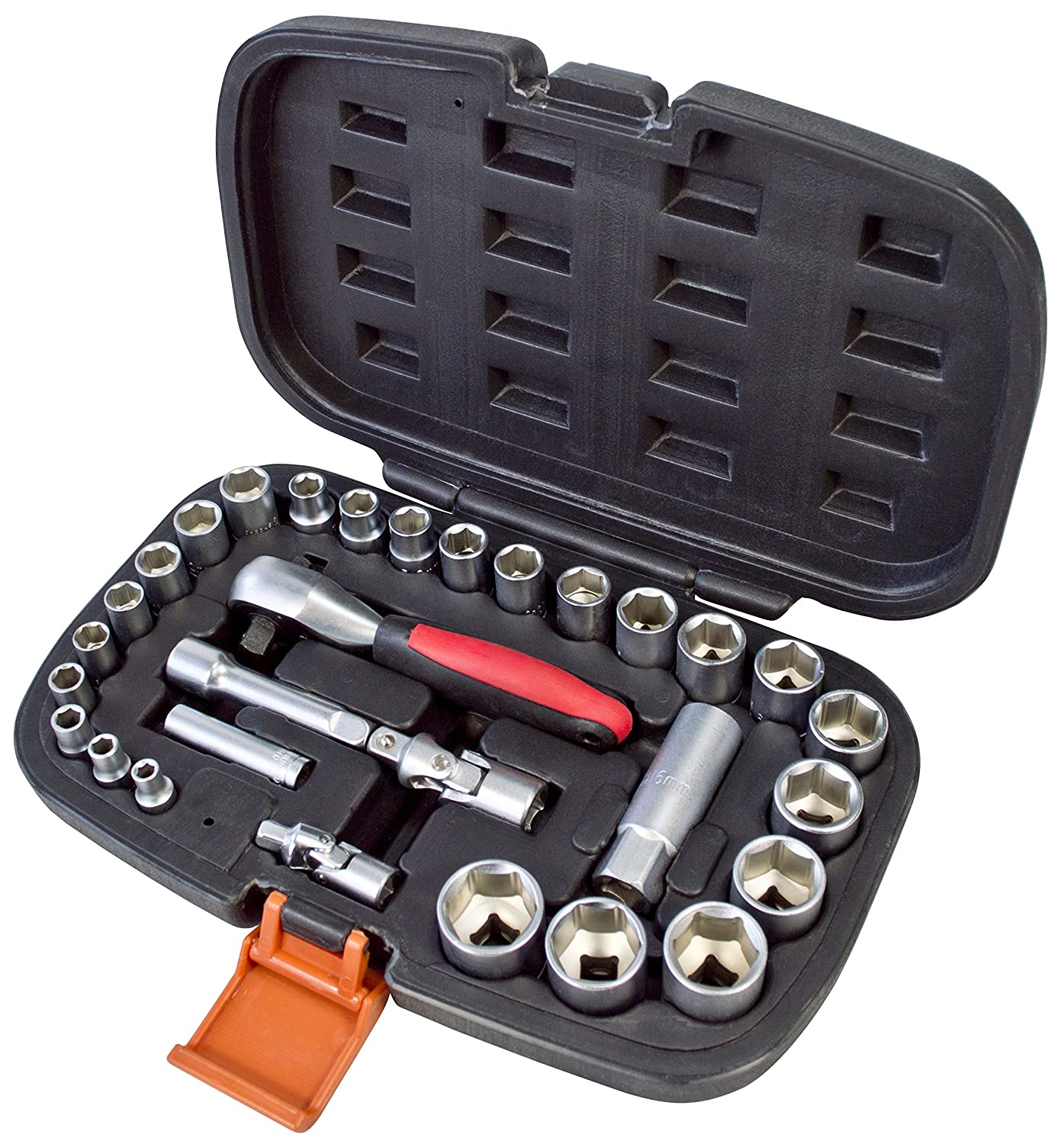 30-Piece 1//4//3//8-Inch Amtech I0380 Socket Set
