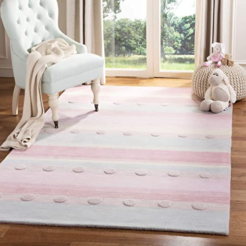 Safavieh Kids Collection SFK801M Handmade Wool Area Rug