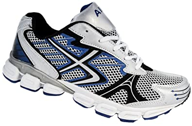 884d59971ab67 Mens DEK White Black Blue Running Gym Sport Trainers Sizes 7 to 12 (11)