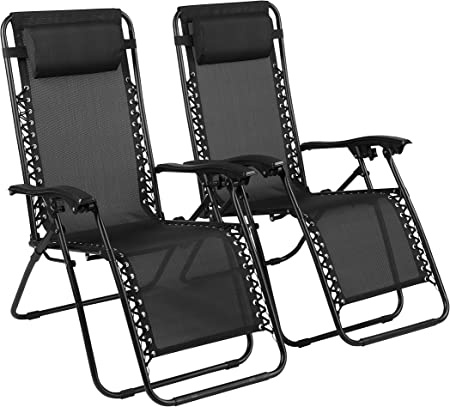 Naomi Home Zero Gravity Lounge Patio Outdoor Recliner Chairs Red//Set of 4
