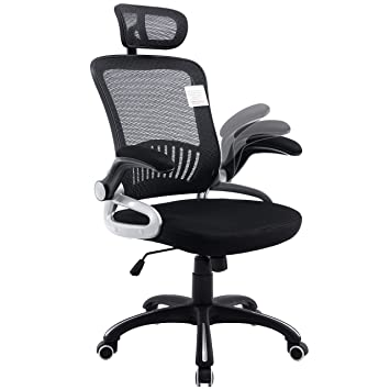 Mesh High Back Extra Padded Swivel Office Chair with Head Support