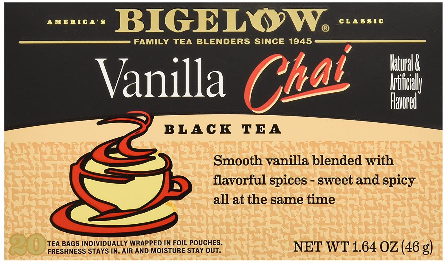 Bigelow Vanilla Chai Tea Bags - 20 ct