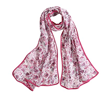 9866fc012 Radiant & Resilient Women Oblong Lightweight Cotton Linen Scarf Floral  Print Gingham Spring Summer Fashion Scarf