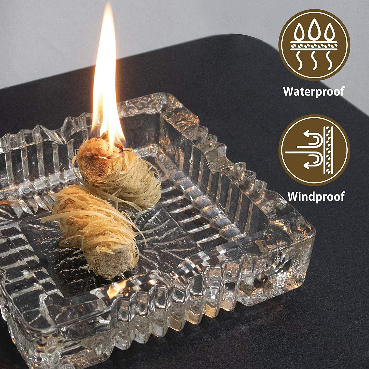 SWATOM Fire Charcoal Starters Firelighters Kindling Wood for Chimney Grill Fireplace Campfire BBQ Burn Pellet Stove Oven (25pcs) : Garden & Outdoor