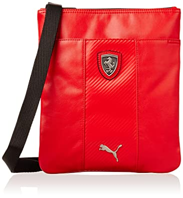 8f0760d04c Unisex Puma Ferrari LS Portable Tablet Bag Red Leather  Amazon.co.uk  Shoes    Bags