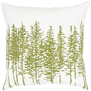 Rizzy Home T05379 Printing Decorative Pillow, 18 by 18-Inch, Green