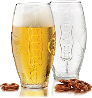 product image for Libbey 23-Ounce Football Tumbler Beer Glass Set, 4-Piece